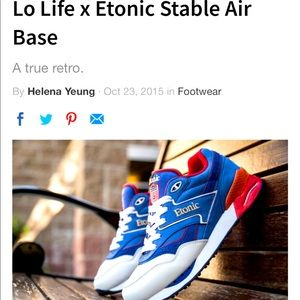 Lo Life x Etonic stable air sold out sneakers NEW
